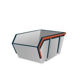 Huur een 2,5 m³ open container voor hout