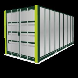 Huur een 20 Ft opslagcontainer verlengen