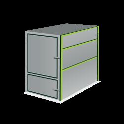 Huur een 4,5 m³ gesloten container voor groenafval