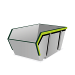 4 m³ open container