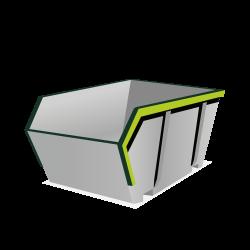 Huur een 4 m³ open container voor dakafval