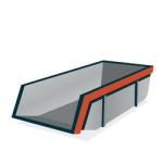 Huur een 6 m³ open container voor     €163,35