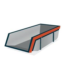 Huur een 6 m³ open container voor grond